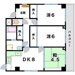 レナジア近江八幡[7階]の間取り