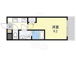 阪急伊丹線 稲野駅 徒歩5分の賃貸マンション 1階1Kの間取り