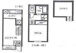 [テラスハウス] 神奈川県横浜市神奈川区子安通3丁目 の賃貸【/】の間取り