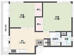 杉山マンション[301号室]の間取り