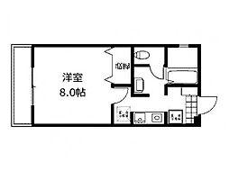 神奈川県相模原市中央区淵野辺本町3丁目の賃貸アパートの間取り
