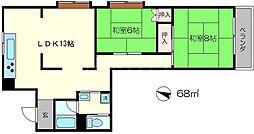 下加茂ハウス[2階]の間取り