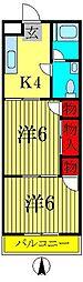 サントピア新松戸参番館[2階]の間取り