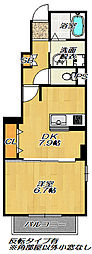 JR片町線(学研都市線) 四条畷駅 徒歩19分の賃貸アパート 1階1DKの間取り