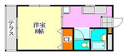 コーポ川島第六[201号室]の間取り