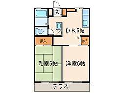 東京都府中市本町2丁目の賃貸アパートの間取り