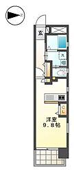 RIVO浅間町[7階]の間取り