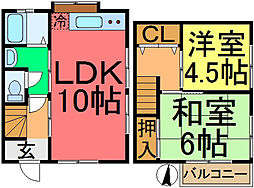 [一戸建] 東京都江戸川区本一色3丁目 の賃貸【/】の間取り