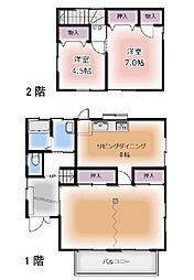 [一戸建] 埼玉県日高市武蔵台1丁目 の賃貸【/】の間取り