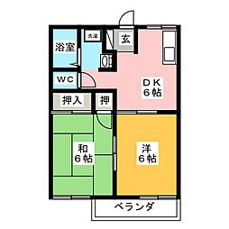 ハミング井田[1階]の間取り
