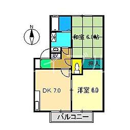 エステート六泉寺 D棟[2階]の間取り