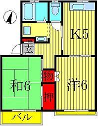 エクセル小林II[2-D号室]の間取り