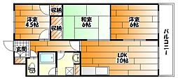 広島県広島市安佐南区山本1丁目の賃貸マンションの間取り