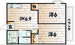 ニューシティ田原[1階]の間取り