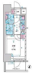 東京メトロ千代田線 綾瀬駅 徒歩10分の賃貸マンション 2階1Kの間取り