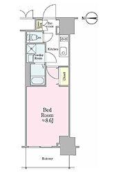 JR総武線 飯田橋駅 徒歩5分の賃貸マンション 9階1Kの間取り