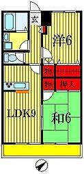 サニーベール西船[3階]の間取り