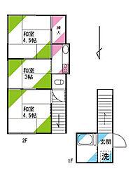松本アパート 2階3Kの間取り