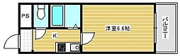 ルミナス恵美須[6階]の間取り