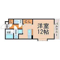愛知県名古屋市昭和区東畑町2丁目の賃貸マンションの間取り