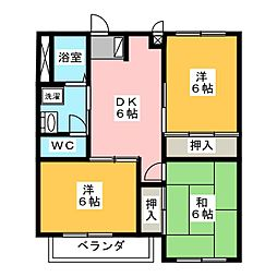 セジュール神野[2階]の間取り