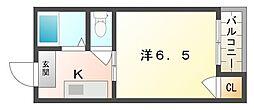大阪府門真市宮野町の賃貸マンションの間取り