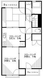 原川ビル[301号室]の間取り