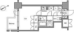 レジディア麻布台[4階]の間取り