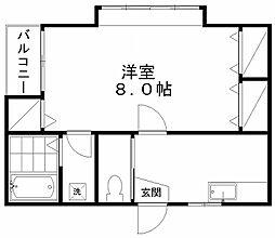 クレセントEmaII[1階]の間取り