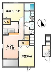 トワニー・K I棟[2階]の間取り
