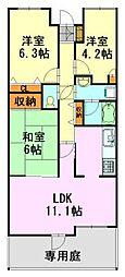 千葉県千葉市中央区宮崎2丁目の賃貸マンションの間取り
