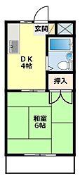 愛知県みよし市園原2丁目の賃貸アパートの間取り