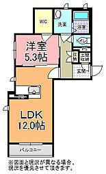 ラ・メール 3階1LDKの間取り
