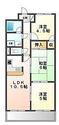 ソレアード上甲子園[3階]の間取り