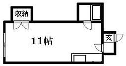 北海道札幌市清田区清田二条1丁目の賃貸マンションの間取り