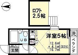 志学荘[202号室]の間取り