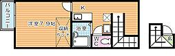 レオパレス赤坂 壱番館[216号室]の間取り