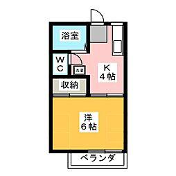 コーポ上野C[2階]の間取り