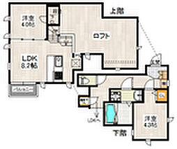福岡県福岡市博多区美野島2丁目の賃貸アパートの間取り