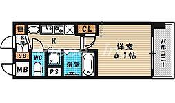 プレサンス天満ステーションフロント[10階]の間取り