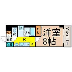 愛知県名古屋市熱田区沢下町の賃貸マンションの間取り
