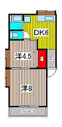 みかどハイツ[2階]の間取り