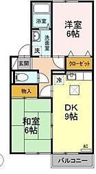 メゾン・エスポワール B棟[1階]の間取り