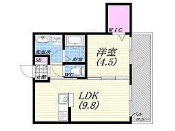 篠原北町PJ 3階1LDKの間取り