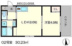 Residence西小路小米町[3階]の間取り