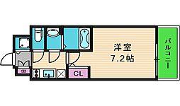 エスリード大阪上本町ブランシュ 10階1Kの間取り