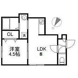 サンライズN5[2階]の間取り