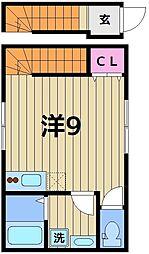(仮称)中川4丁目アパート 2階ワンルームの間取り