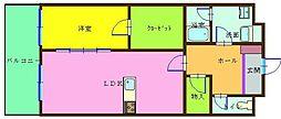 アヴィニールグランデ金田[9階]の間取り