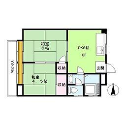 久保井ハイム[3階]の間取り